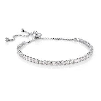 CZ Adjustable Tennis Bracelet
