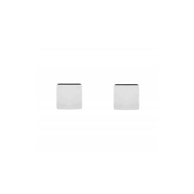 House of Jewellery Silver Square Stud Earrings