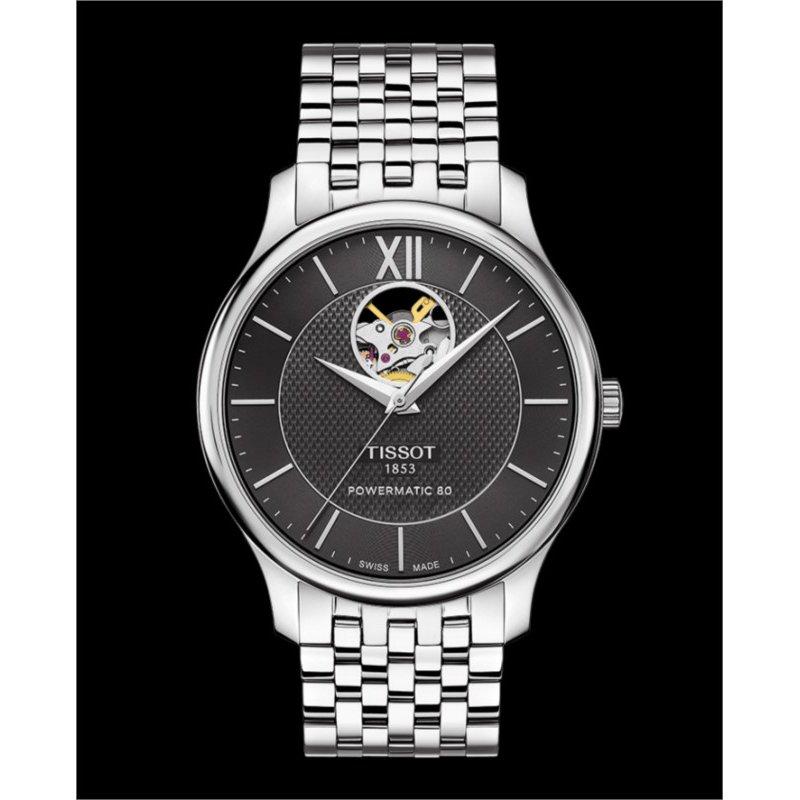 Tissot Tradition Powermatic 80 Open Heart Watch T063.907.11.058.00