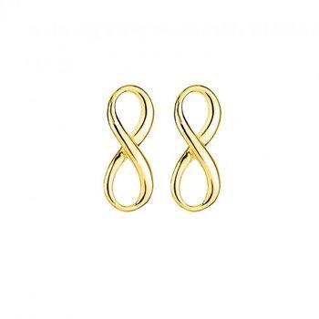 Gold Tone Infinity Earrings