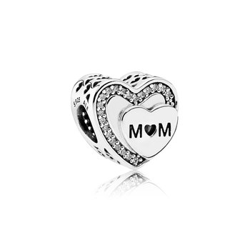 Sparkling Mom Heart Charm