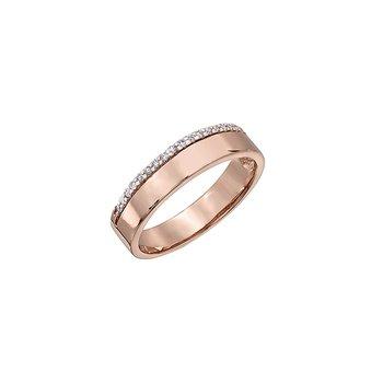 10K Rose Gold Fashion Ring 0.12ctw