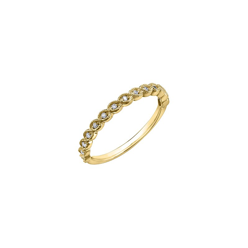 Chi Chi Designs Chi Chi Collection 10k Yellow Gold Diamond Band, 0.07 tdw