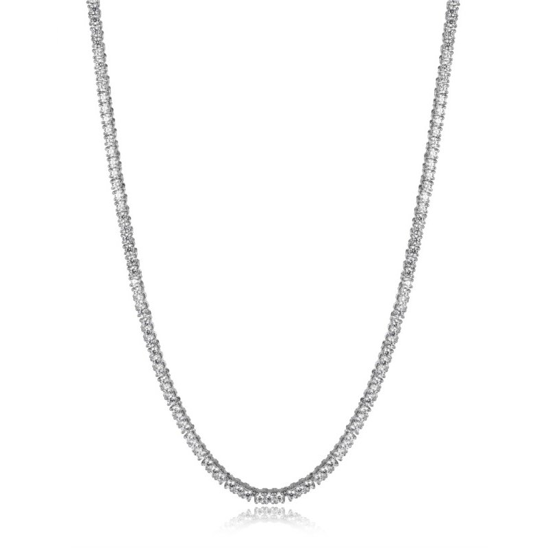 Reign Sterling Silver CZ Tennis Necklace