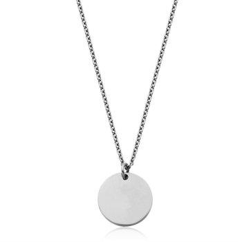 SteelX Small Round Disc Pendant & Chain