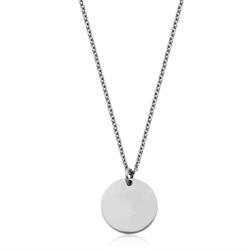 SteelX SteelX Small Round Disc Pendant & Chain