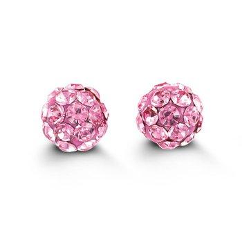 Baby Bella 14k Firecracker Earrings- Pink