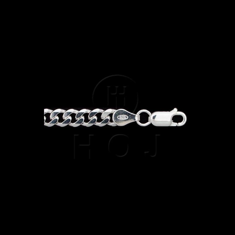 """House of Jewellery 925 Silver Curb Link Chain, 20"""""""
