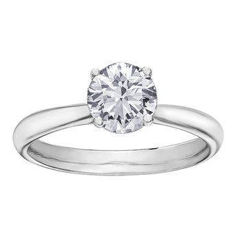 18K Solitaire Engagement Ring, 0.50 TDW
