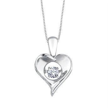 Sterling Silver April Birthstone Pendant