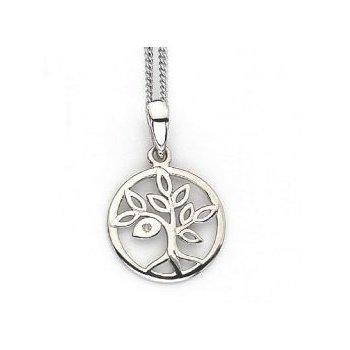 """Oak Tree"" Diamond Pendant"