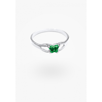 May Birthstone Ring Sz 4