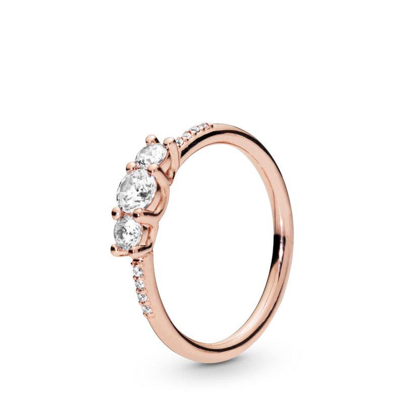 Pandora Sparkling Elegance Ring, size 7.5