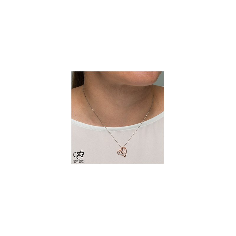 Forever Jewellery 10K Filligree Diamond Heart Pendant