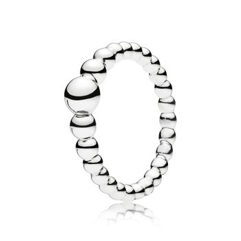 String of Beads Ring,  size 7.5