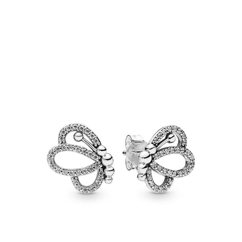 Pandora Sparkling Butterfly Stud Earrings