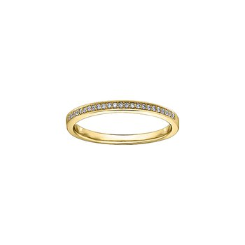 10k yellow gold diamond stackable diamond band