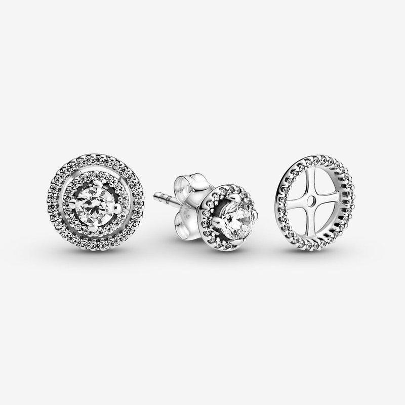 Pandora Sparkling Double Halo Stud Earrings