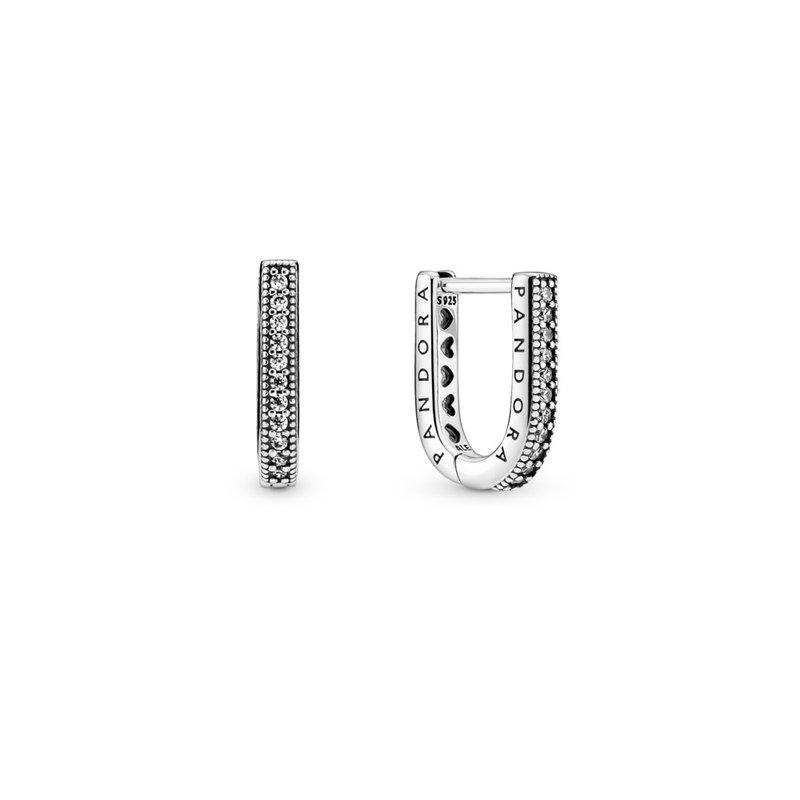 Pandora U-shaped Hoop Earrings