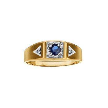 10K Sapphire & Diamond Ring