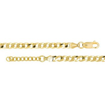 SS Gold Tone Curb Link Anklet