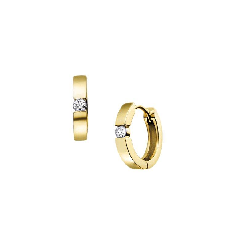 Diamond Days 10K Huggie Hoop Earrings, 0.33 TDW