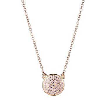 Rose & Sterling Silver CZ Necklace