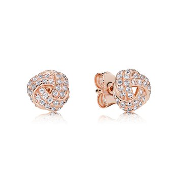 Shimmering Knot Stud Earrings - FINAL SALE