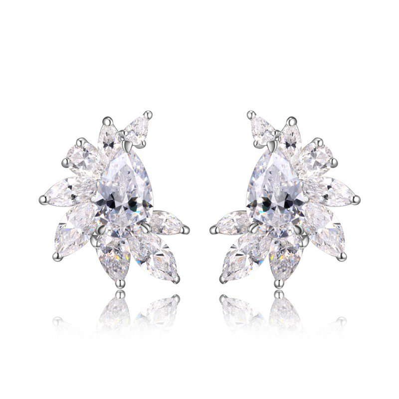 Reign Sterling Silver CZ Studs