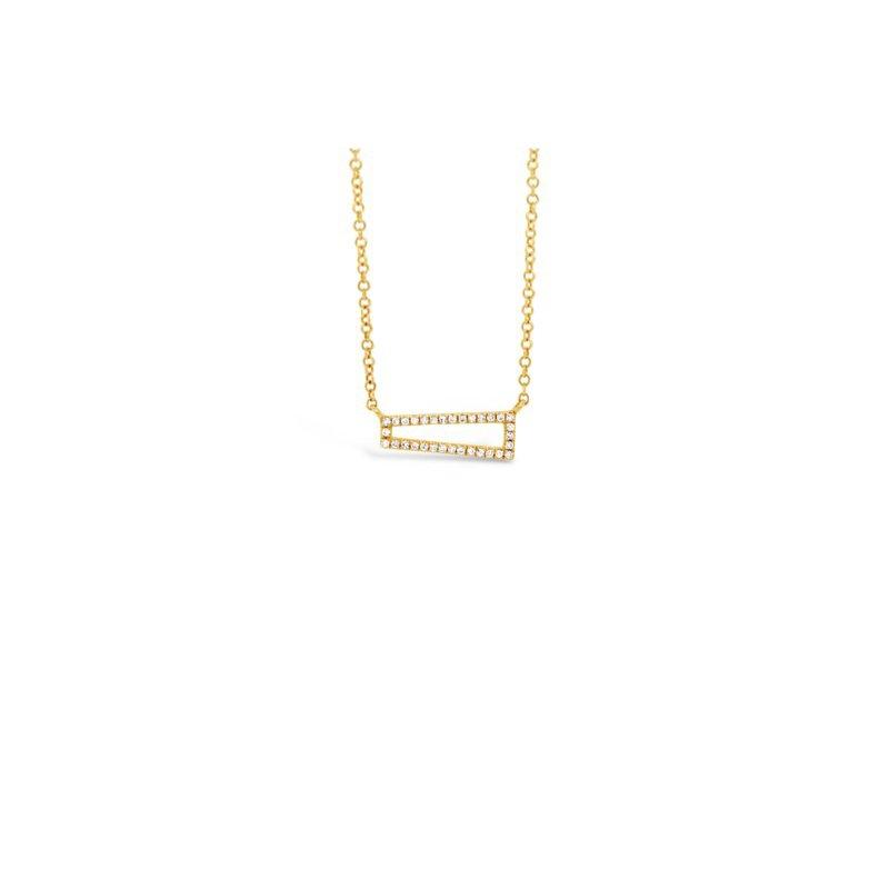 Roman & Jules 14k Diamond Open Bar Necklace
