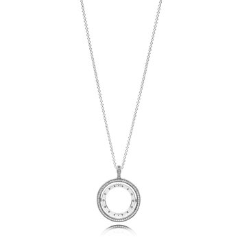 "Pandora Logo Circle Necklace, 23.6"""