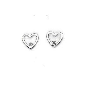 """""""One Heartl"""" Diamond Earrings"""