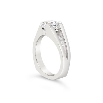 Split Shank Sterling Silver CZ Ring
