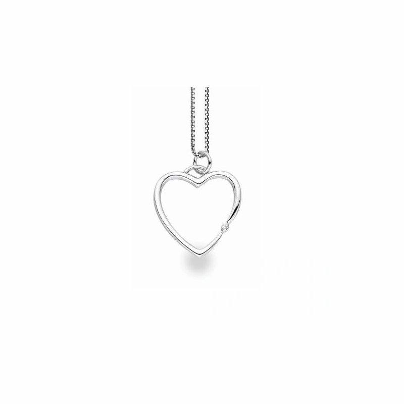 "White Ice ""My Heart"" Diamond Pendant"