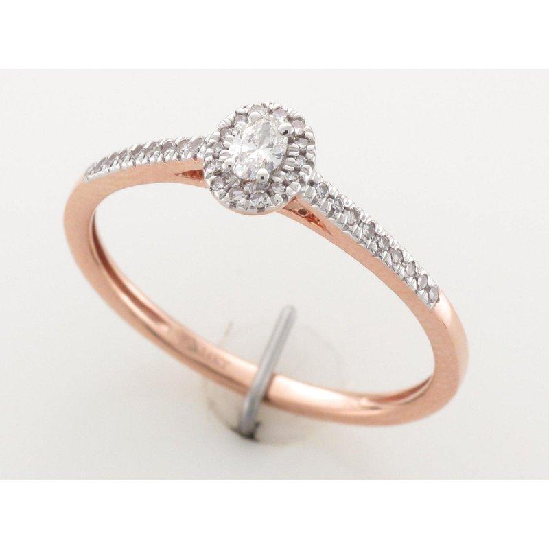 Paragems 10K Halo Engagement Ring, 0.20 TDW