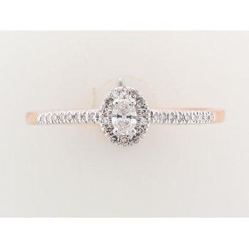 10K Halo Engagement Ring, 0.20 TDW