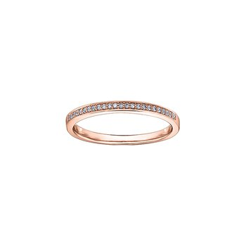 10k rose gold diamond stackable diamond band