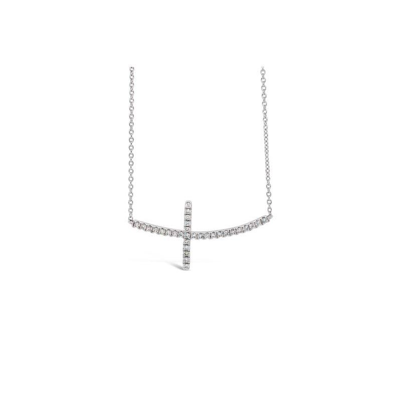 Roman & Jules 14k Sideways Diamond Necklace