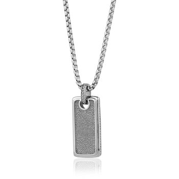 Rectangle Pendant with Stone Pattern