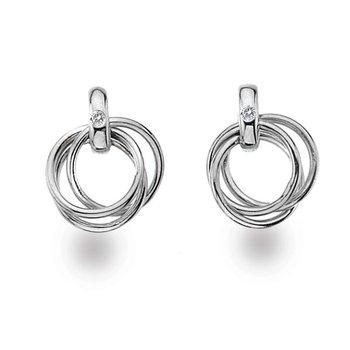 """""""Triple Twist"""" Diamond Earrings"""
