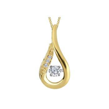 10K Twinkle Canadian Diamond Pendant