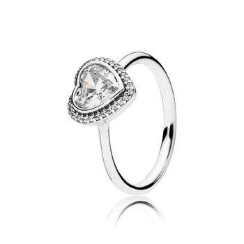 Sparkling Love Heart Ring, size 7.5 - FINAL SALE