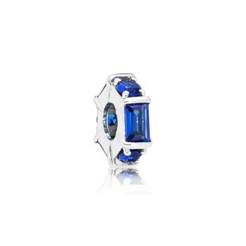 Blue Ice Cube Spacer Charm - FINAL SALE