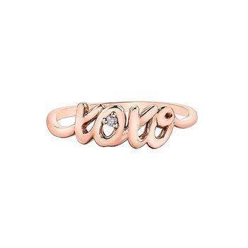 """10K """"xoxo"""" Fashion Ring"""
