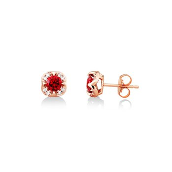 Rhodalite Garnet Stud Earrings