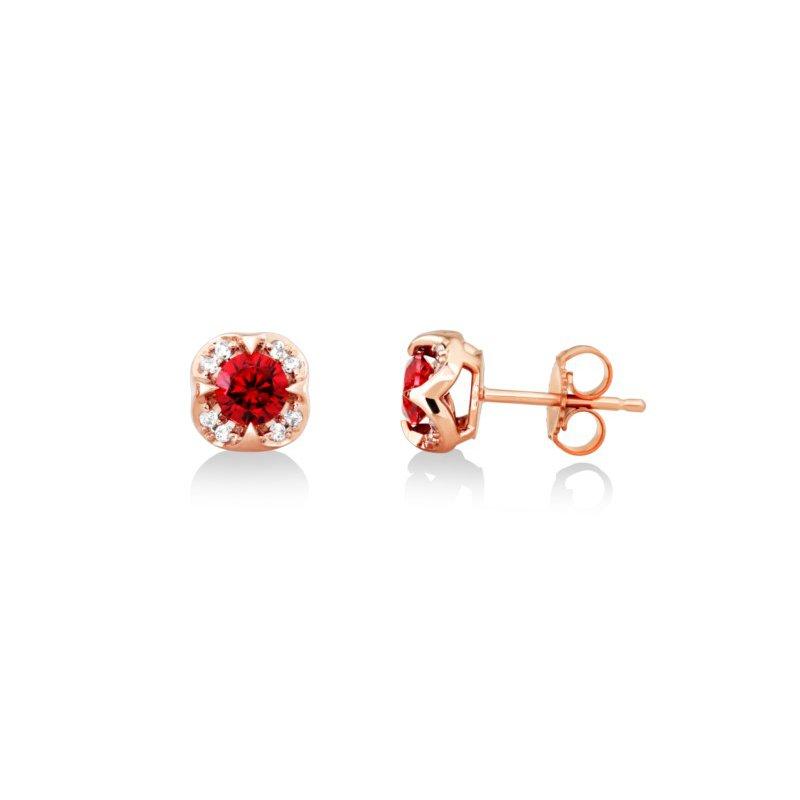 Love It! Rhodalite Garnet Stud Earrings