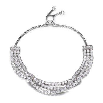 Sterling Silver 3 Strand Tennis Bracelet