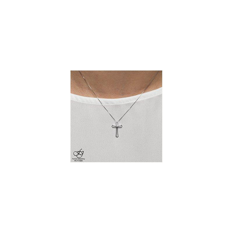 Forever Jewellery 10K White Gold Diamond Cross
