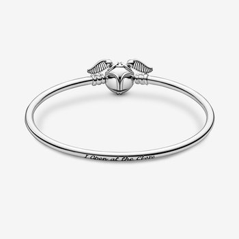 """Moments Harry Potter, Golden Snitch Clasp Bangle, 7.5"""""""