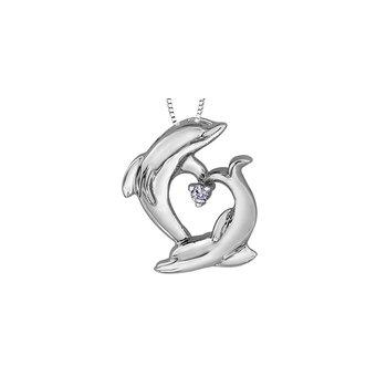 10K Dolphin Pendant